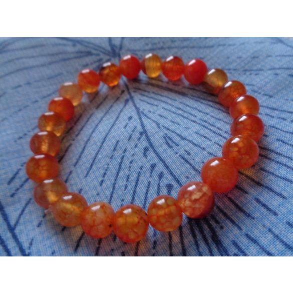 Narancssárga sárkányvér achát karkötő