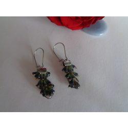Levendula virágos fülbevaló
