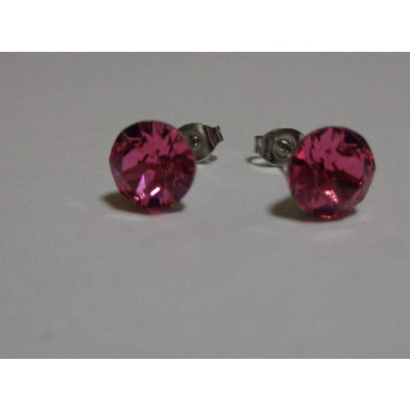 Swarovski kristályos bedugós fülbevaló - rose