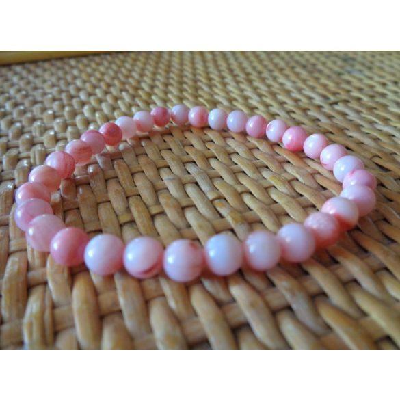 Rózsaszín kagyló karkötő