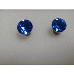 Swarovski kristályos bedugós fülbevaló - sapphire