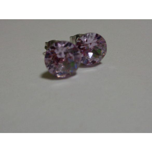 Swarovski kristályos bedugós fülbevaló - Violet