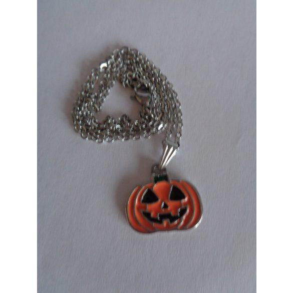 Halloween tök (tűzzománc) medálos nyaklánc